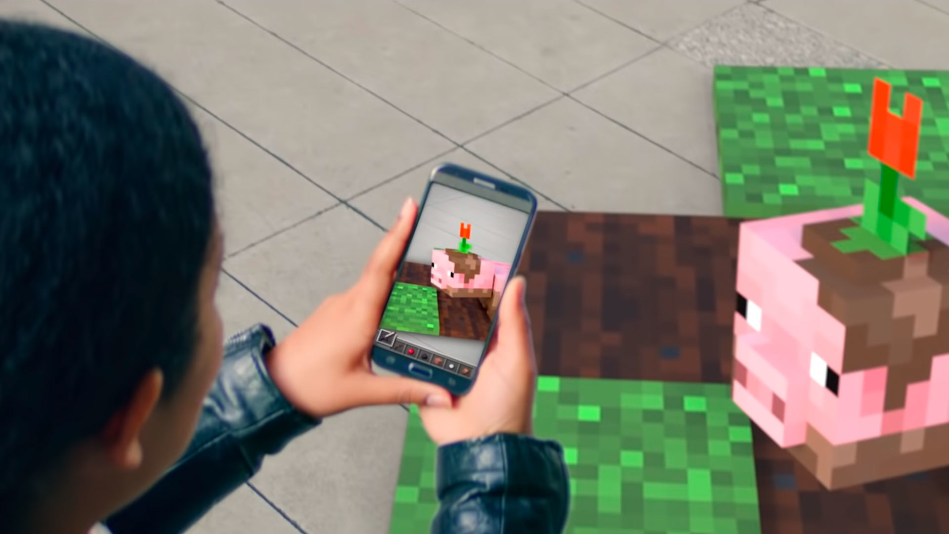 Minecraft mobile AR game teaser